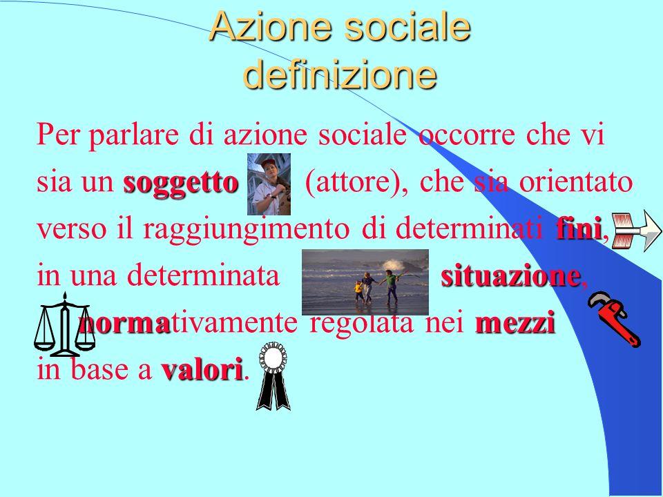 Azione sociale definizione