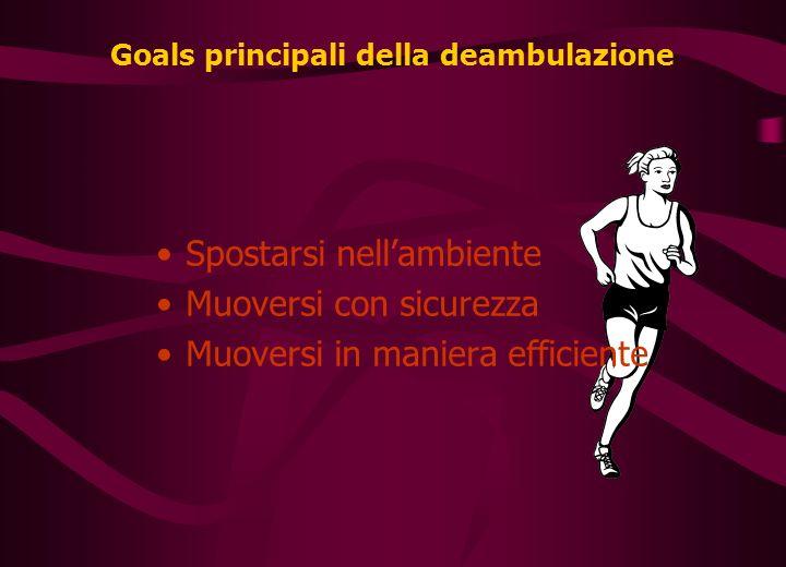 Goals principali della deambulazione