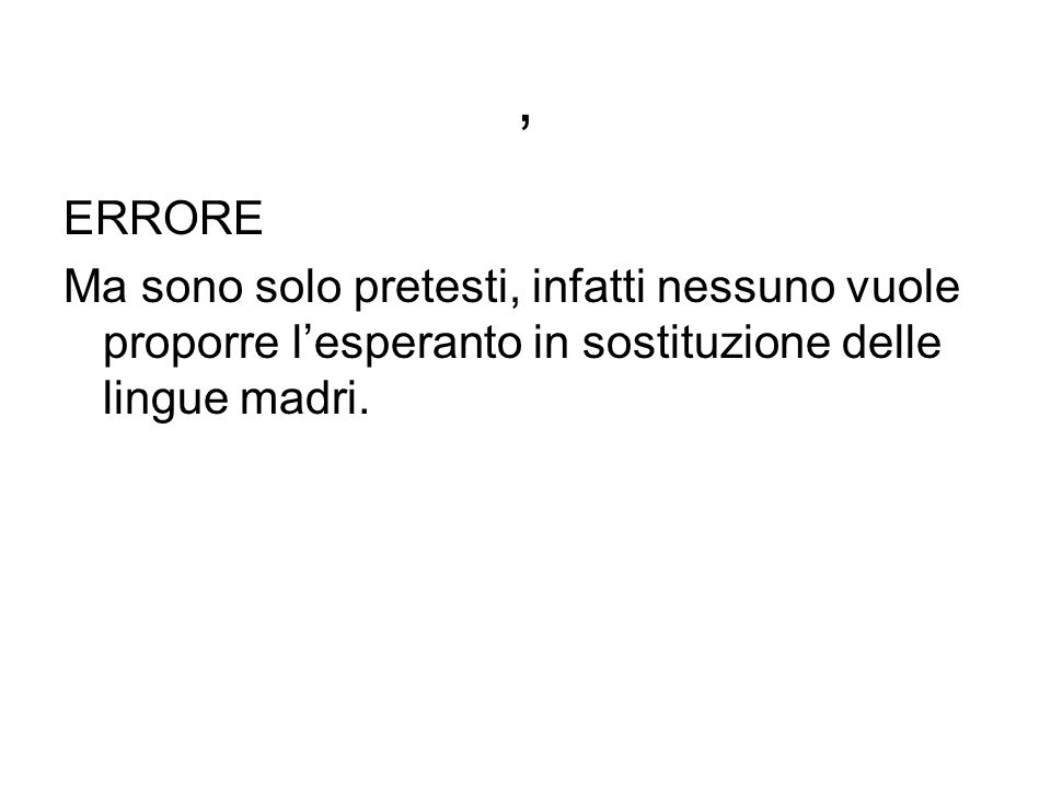 , ERRORE.