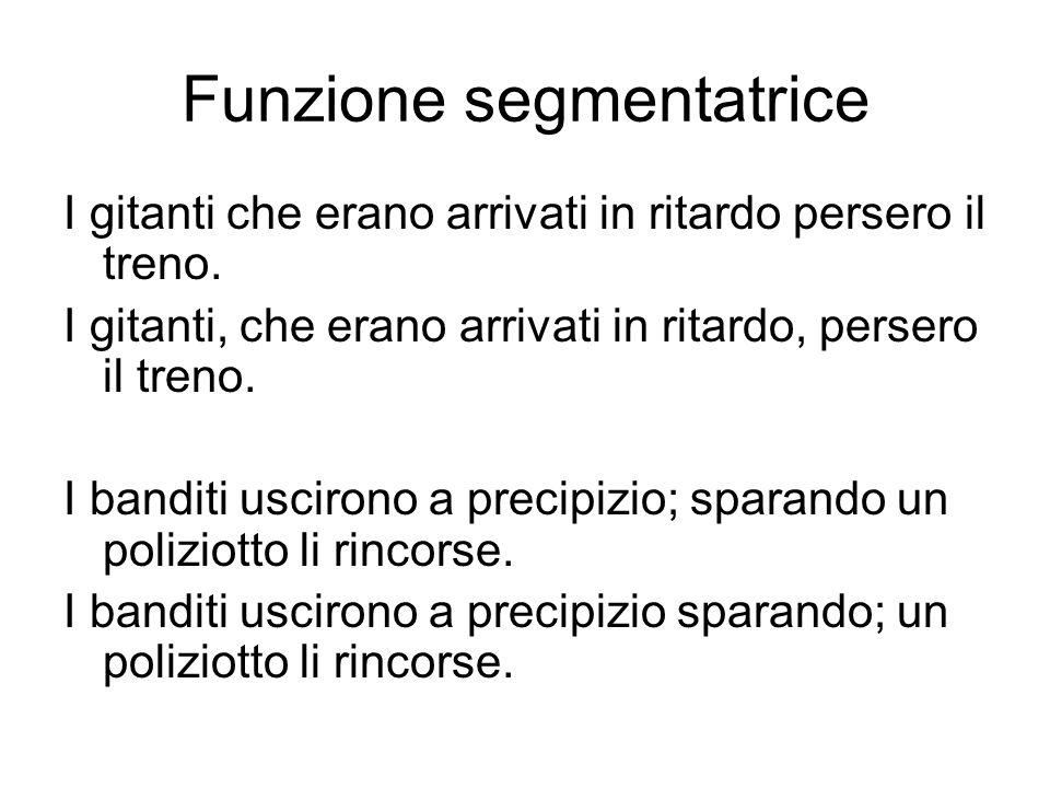 Funzione segmentatrice