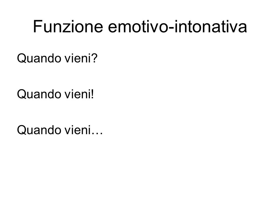 Funzione emotivo-intonativa
