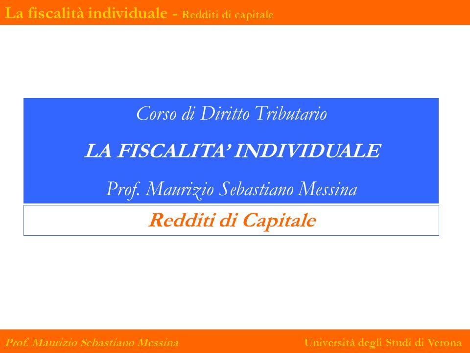 LA FISCALITA' INDIVIDUALE