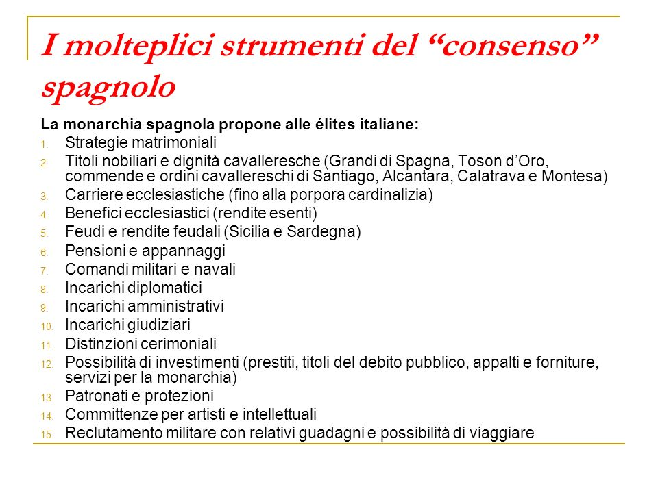 I molteplici strumenti del consenso spagnolo