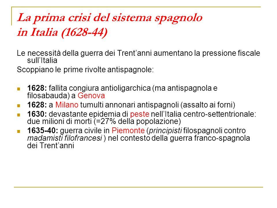 La prima crisi del sistema spagnolo in Italia (1628-44)