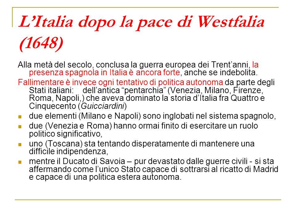 L'Italia dopo la pace di Westfalia (1648)