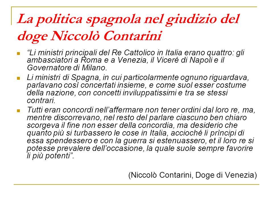 La politica spagnola nel giudizio del doge Niccolò Contarini