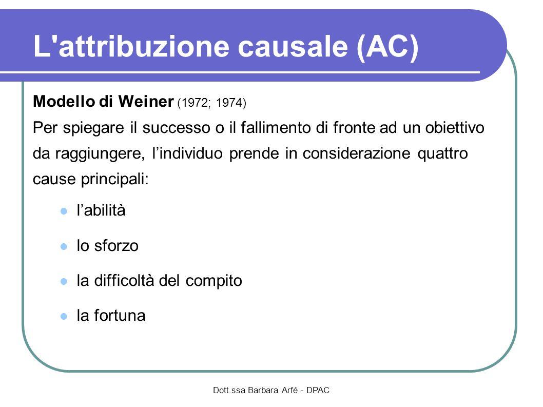 L attribuzione causale (AC)