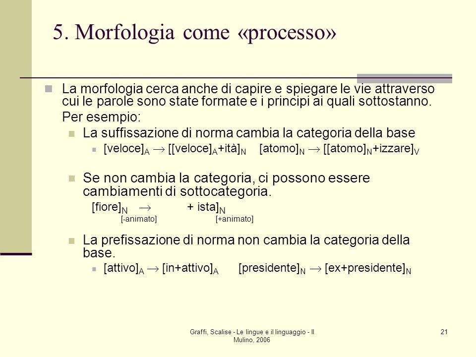 5. Morfologia come «processo»