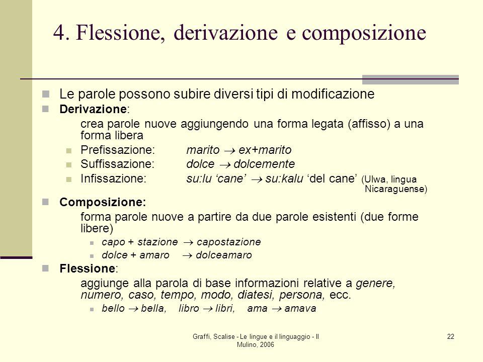 4. Flessione, derivazione e composizione
