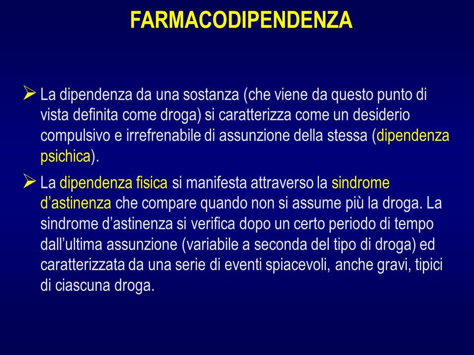 FARMACODIPENDENZA