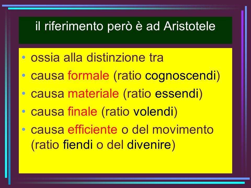 il riferimento però è ad Aristotele