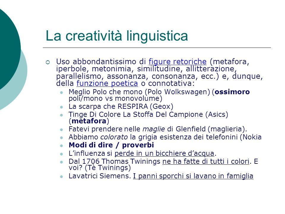 La creatività linguistica