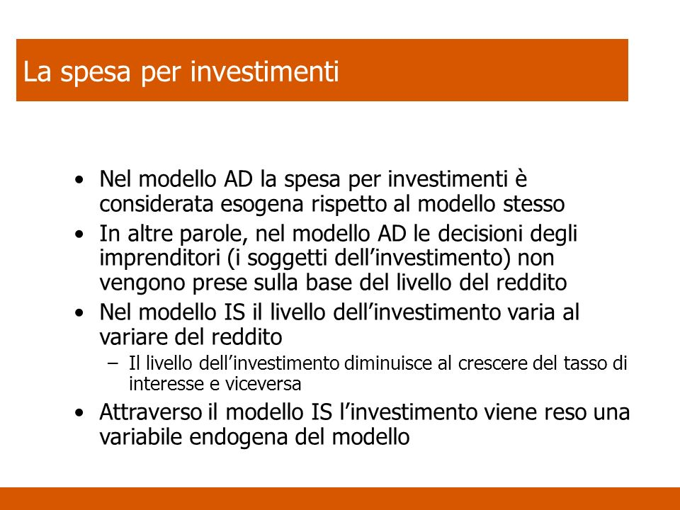 La spesa per investimenti