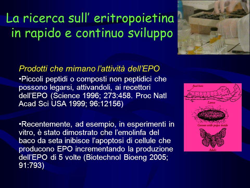 La ricerca sull' eritropoietina in rapido e continuo sviluppo