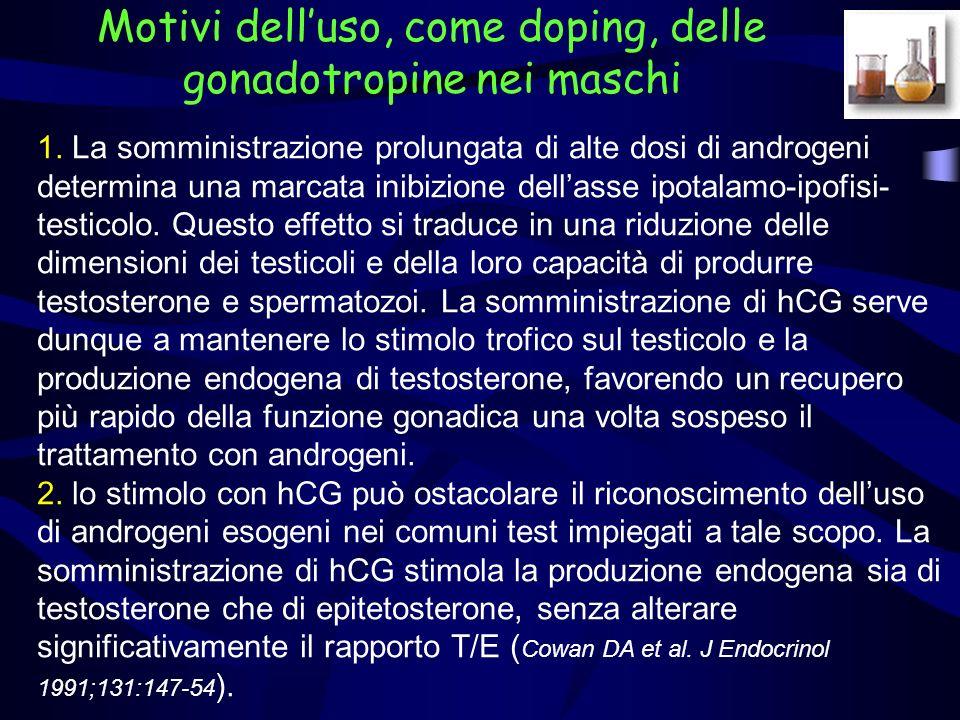 Motivi dell'uso, come doping, delle gonadotropine nei maschi