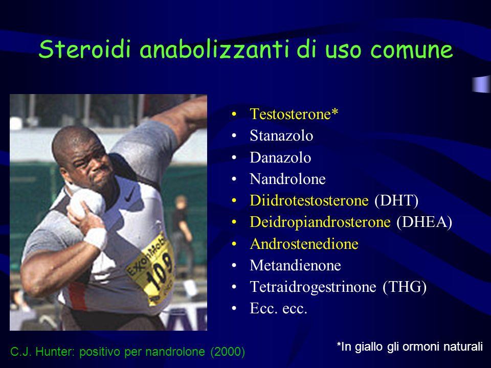 Steroidi anabolizzanti di uso comune