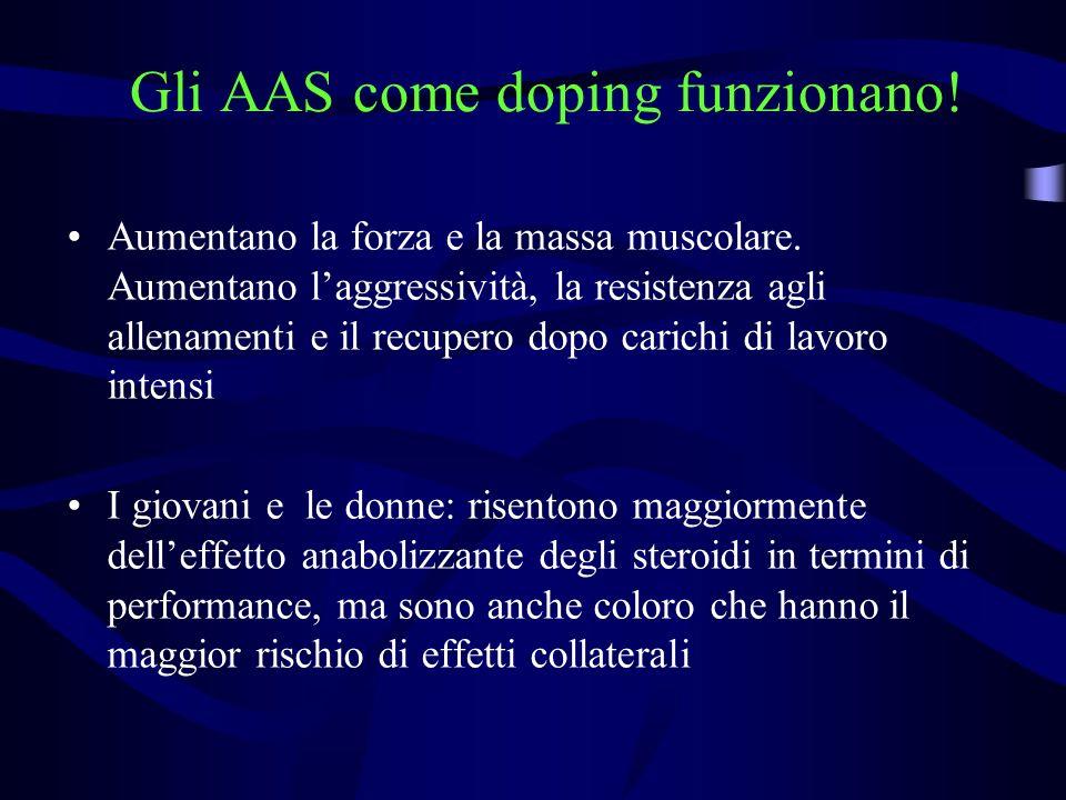 Gli AAS come doping funzionano!