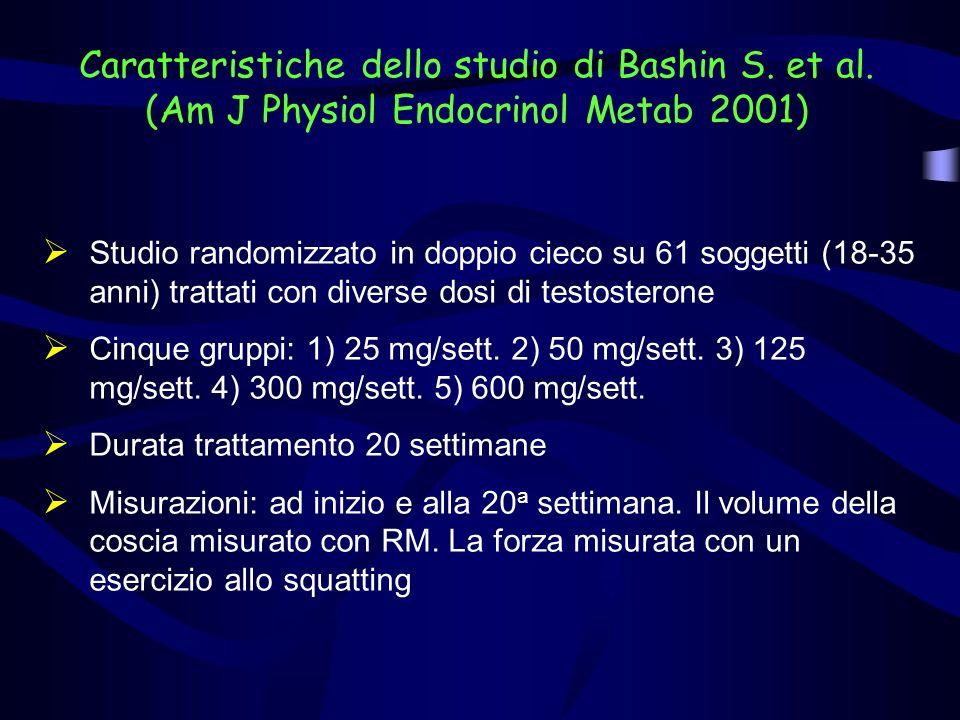 Caratteristiche dello studio di Bashin S. et al