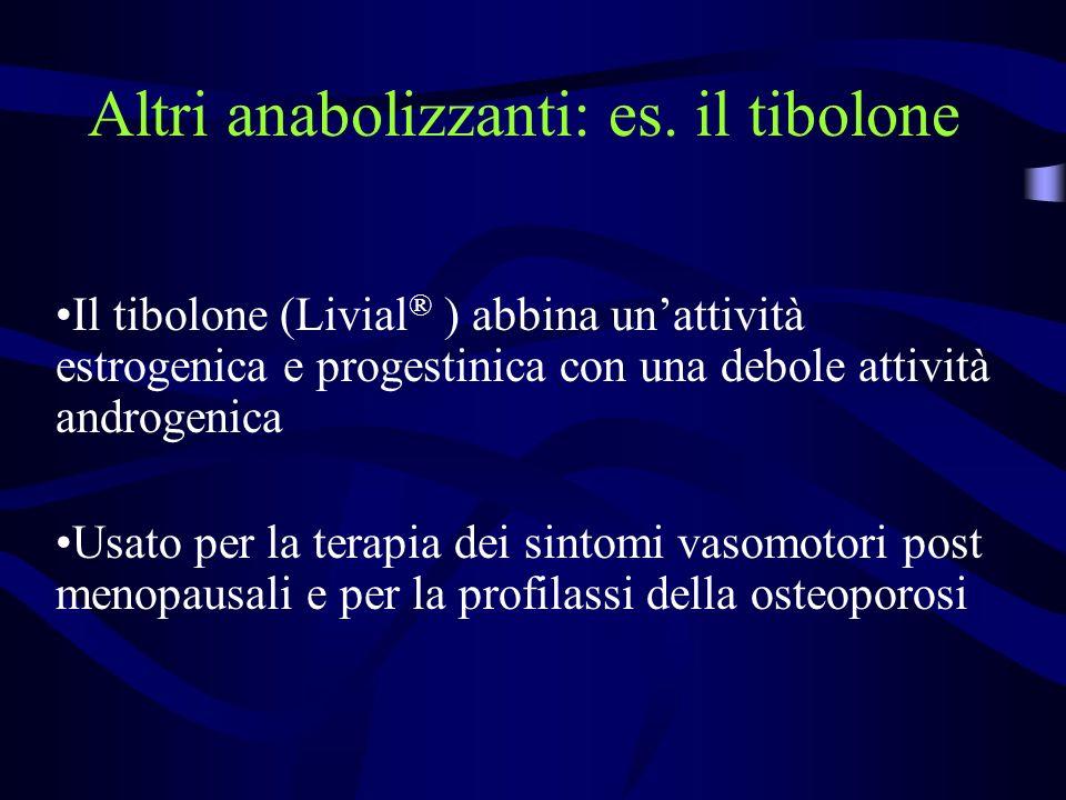 Altri anabolizzanti: es. il tibolone