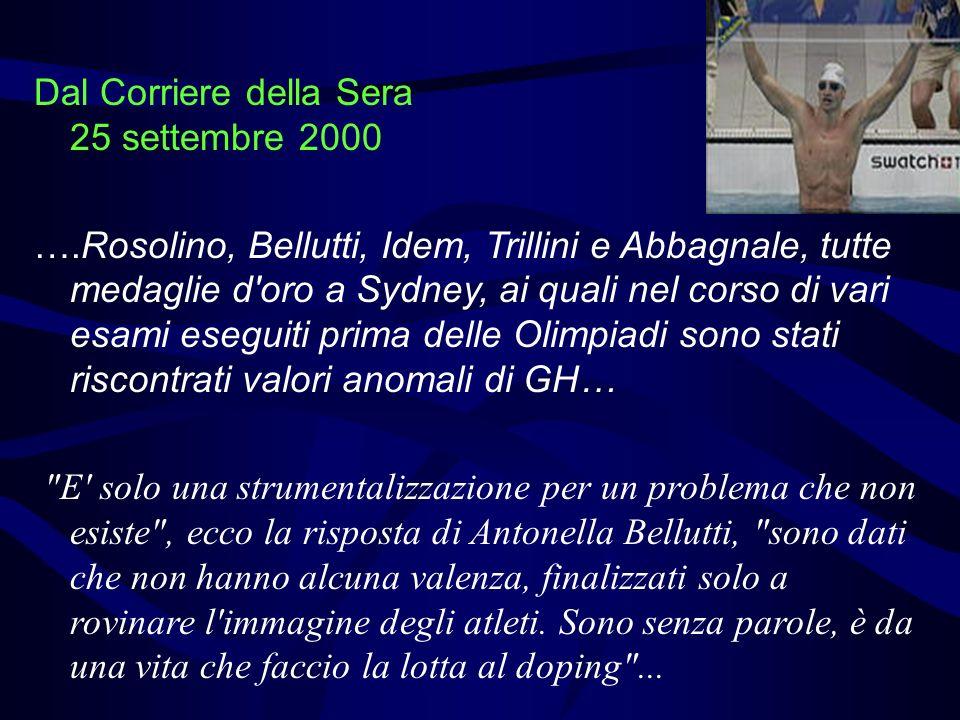 Dal Corriere della Sera 25 settembre 2000
