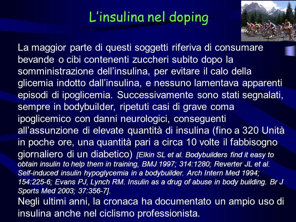 L'insulina nel doping