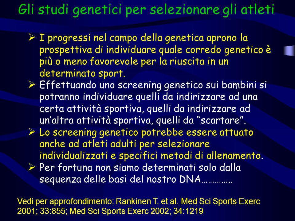 Gli studi genetici per selezionare gli atleti