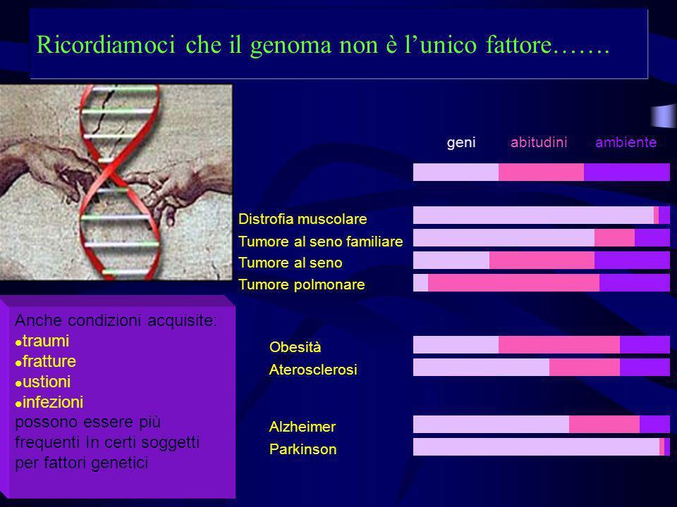 Ricordiamoci che il genoma non è l'unico fattore…….