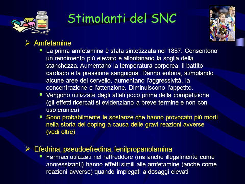 Stimolanti del SNC Amfetamine