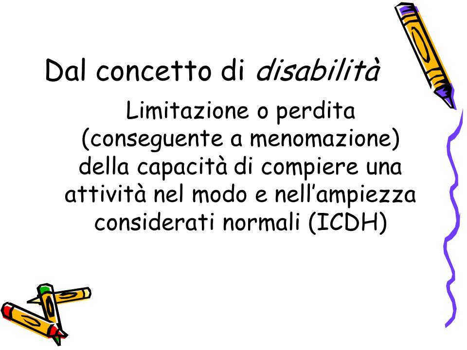 Dal concetto di disabilità