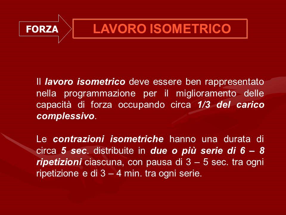 LAVORO ISOMETRICO FORZA