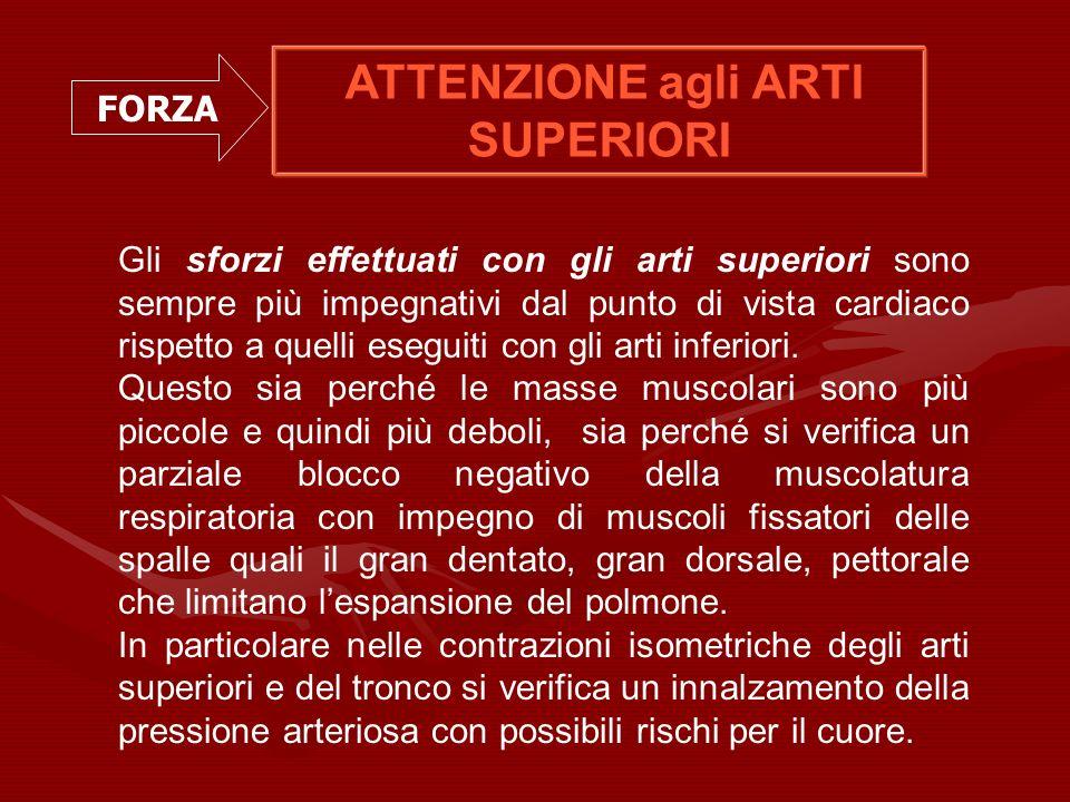 ATTENZIONE agli ARTI SUPERIORI