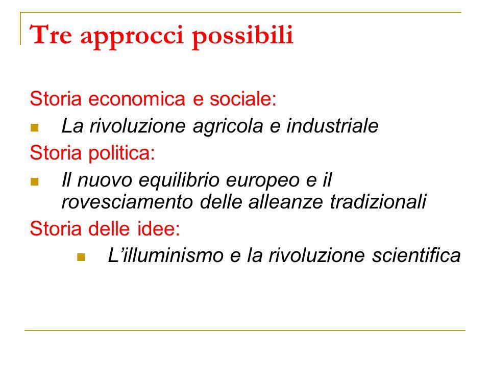 Tre approcci possibili