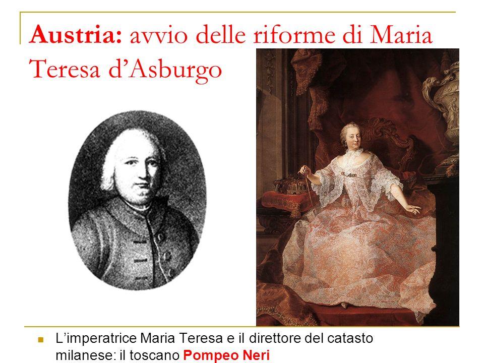 Austria: avvio delle riforme di Maria Teresa d'Asburgo