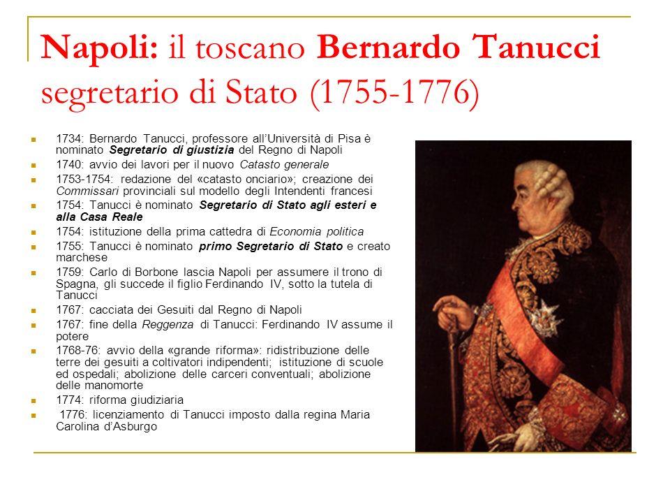 Napoli: il toscano Bernardo Tanucci segretario di Stato (1755-1776)