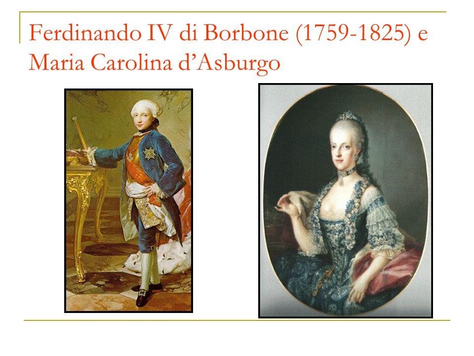 Ferdinando IV di Borbone (1759-1825) e Maria Carolina d'Asburgo