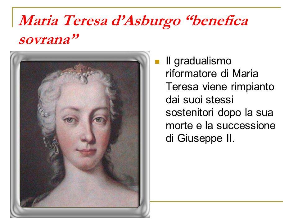Maria Teresa d'Asburgo benefica sovrana