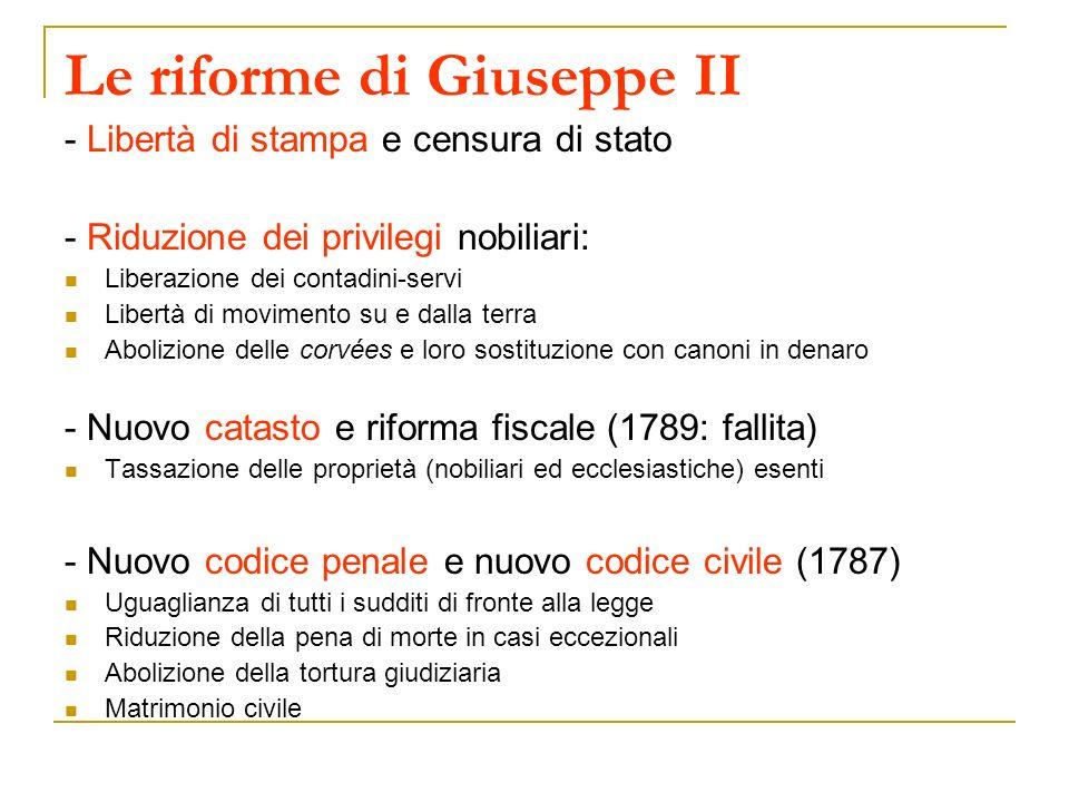 Le riforme di Giuseppe II