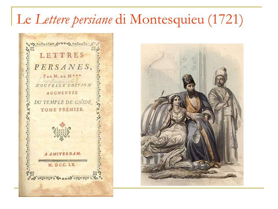 Le Lettere persiane di Montesquieu (1721)