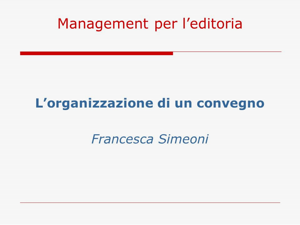 Management per l'editoria