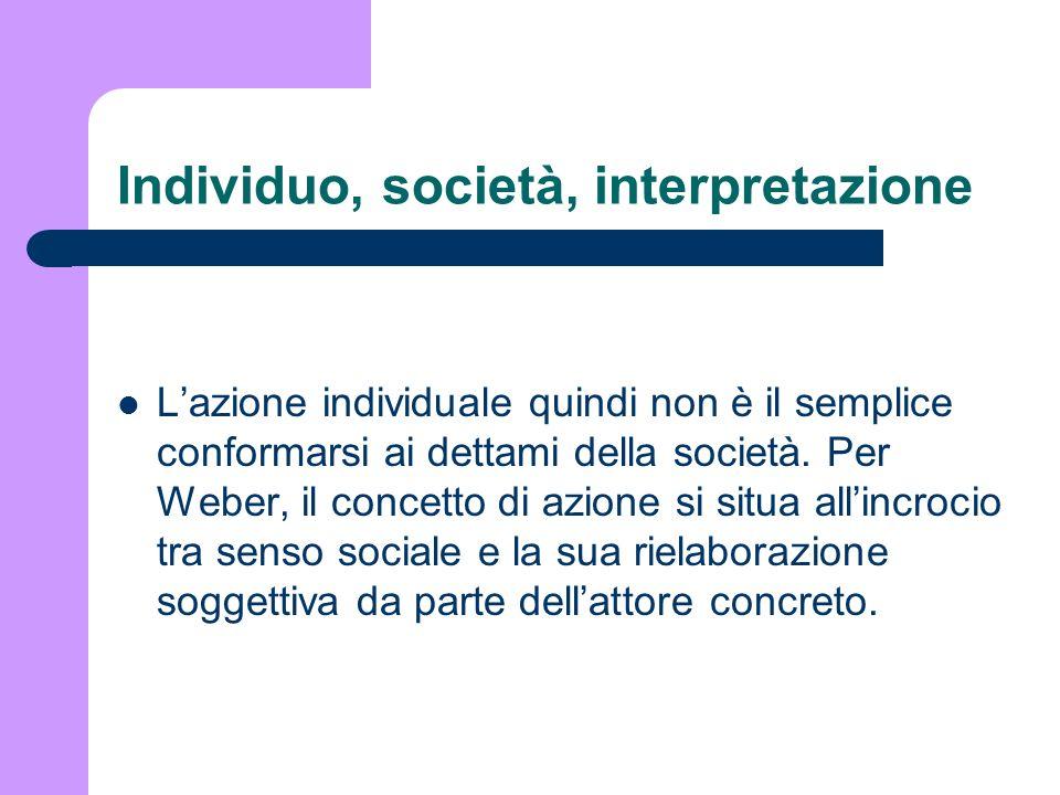 Individuo, società, interpretazione