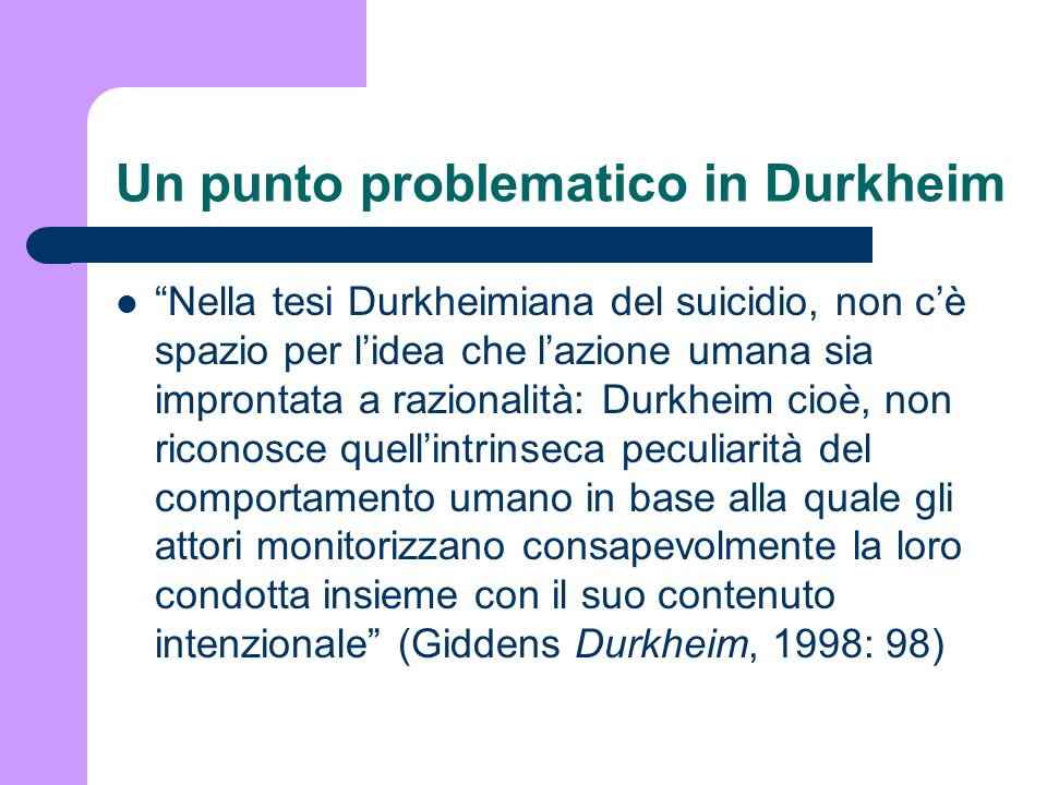 Un punto problematico in Durkheim