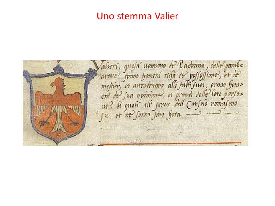 Uno stemma Valier