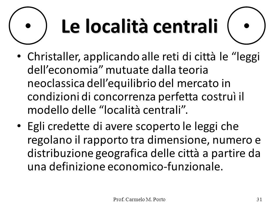 Le località centrali