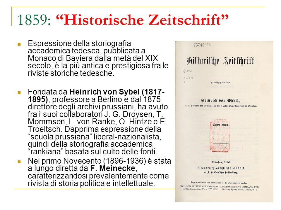 1859: Historische Zeitschrift