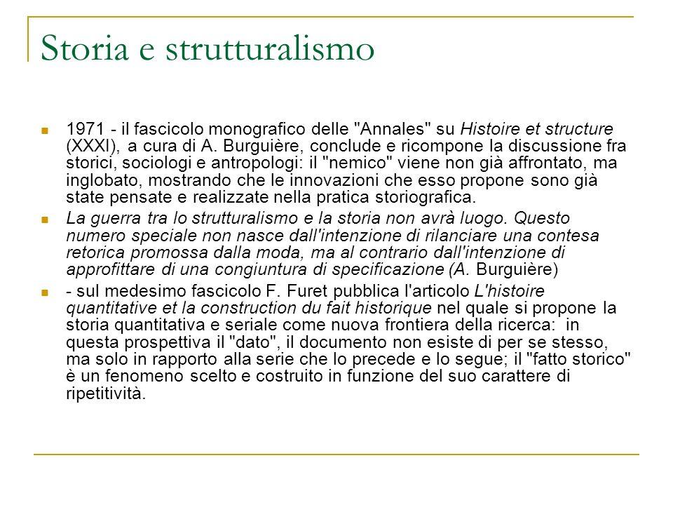 Storia e strutturalismo
