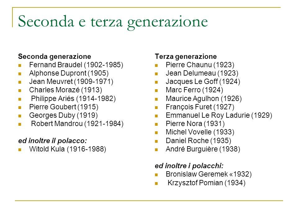 Seconda e terza generazione