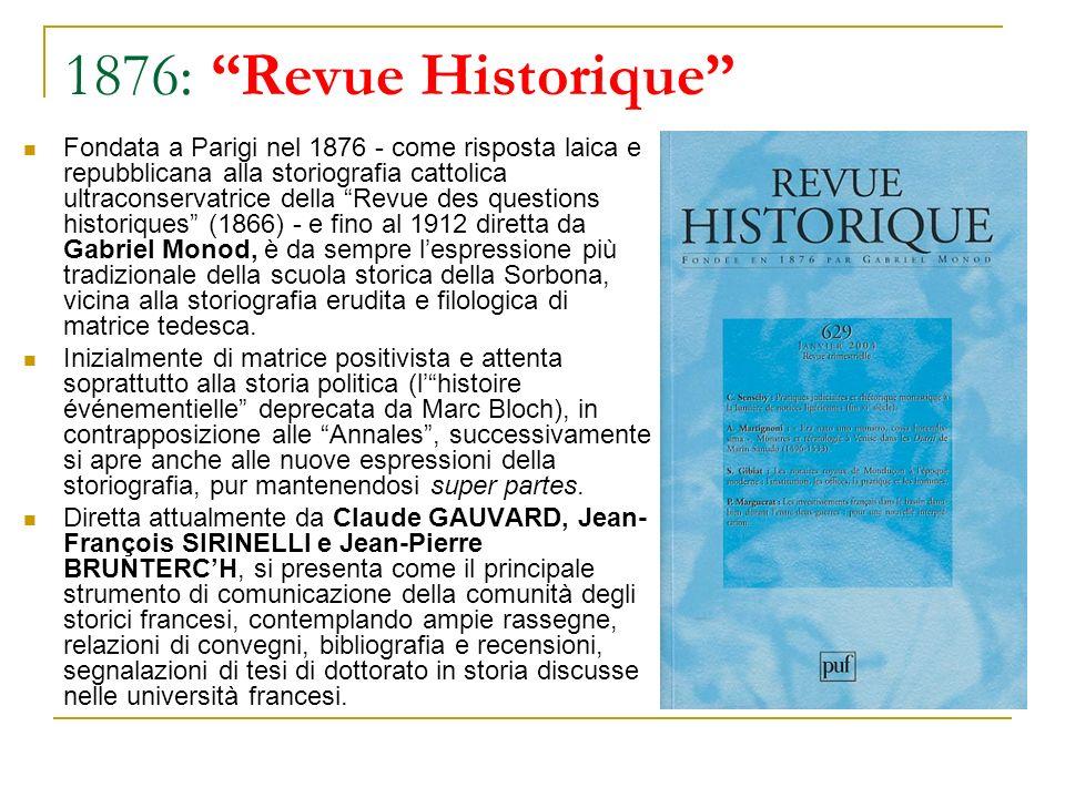 1876: Revue Historique
