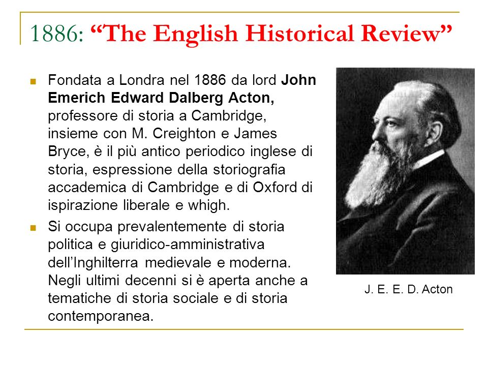 1886: The English Historical Review