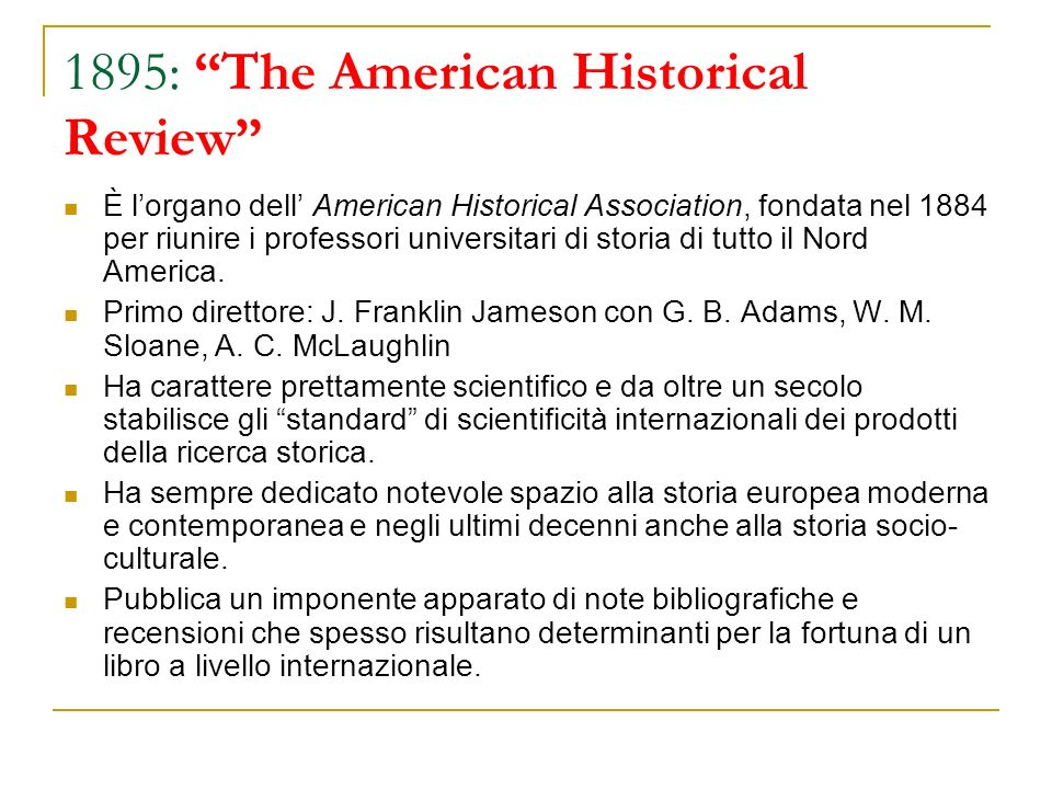1895: The American Historical Review