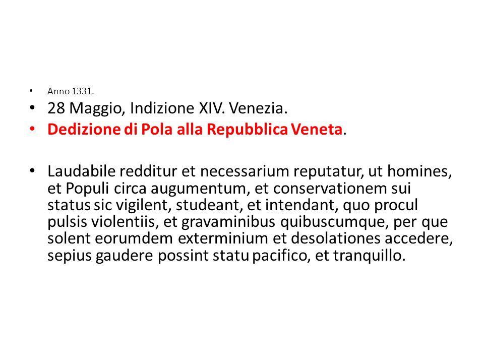 28 Maggio, Indizione XIV. Venezia.